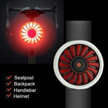 USB Smart Bicycle Brake Lights Bike Rear Back Light 5 Modes 16 LED Cycling Flashlight Taillight Built in Battery lampka rowerowa tanie tanio BTAT09 Sztyca Baterii CE CCC LED Charging Cycling Taillight 39 5mm 29mm COB Led Bright 5 hours Flash 32h Slow flash Flash Warning light 100 Highlight Low-light 50