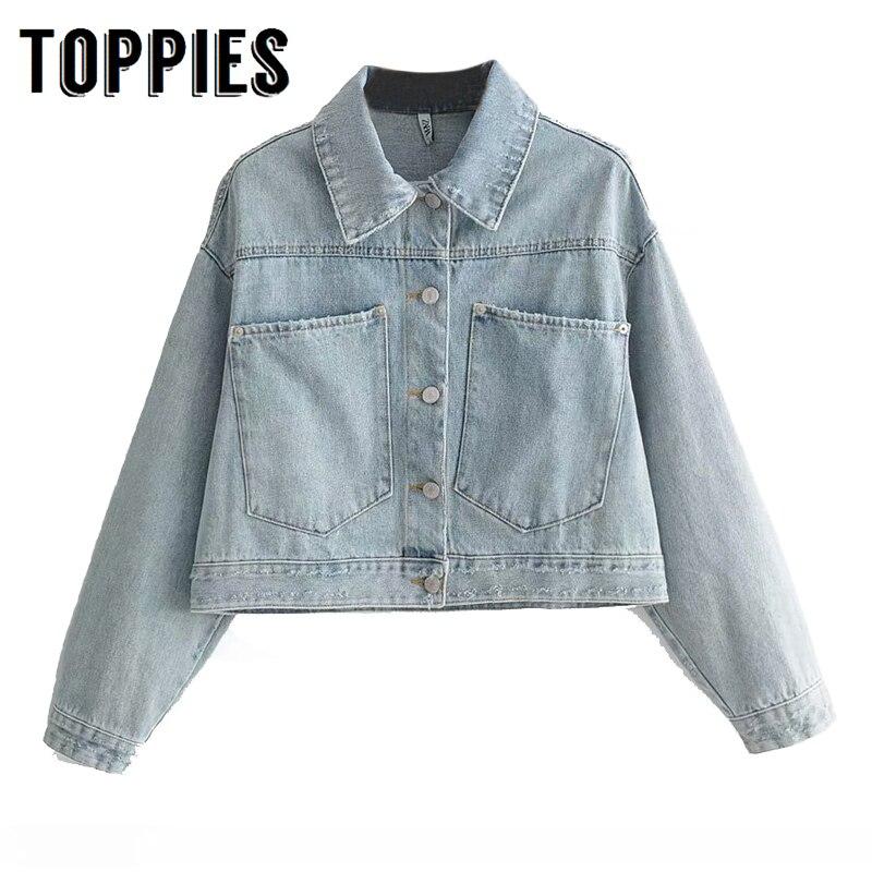 Vintage White Jean Jacket Women Single Breated Short Denim Jacket 2019 Autumn Vintage Coat Streetwear