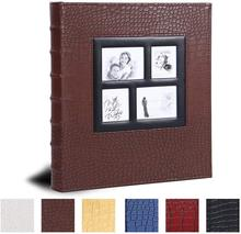 Photo Insert Album for 400 Pockets 4x6 Photos Leather Cover Extra Large Capacity for Family Wedding Anniversary Baby Vacation