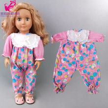 "Dolll Clothes for Newborn Baby Dolls Wear Cute Hat Flamingo Rompers for 18"" Girl Baby Doll Clothes Pants Toys Wear(China)"