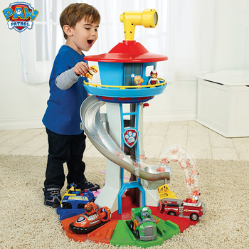 Paw Patrol Dog Patrol Headquarters Collection Dog Patrol Team Oversized Watchtower Track Rescue Car Toy Base Gift