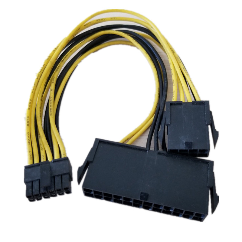 ATX 24Pin + CPU 8Pin To Mini 12Pin Power Supply Cable For Dell C6100 Motherboard Mainboard Server Workstation
