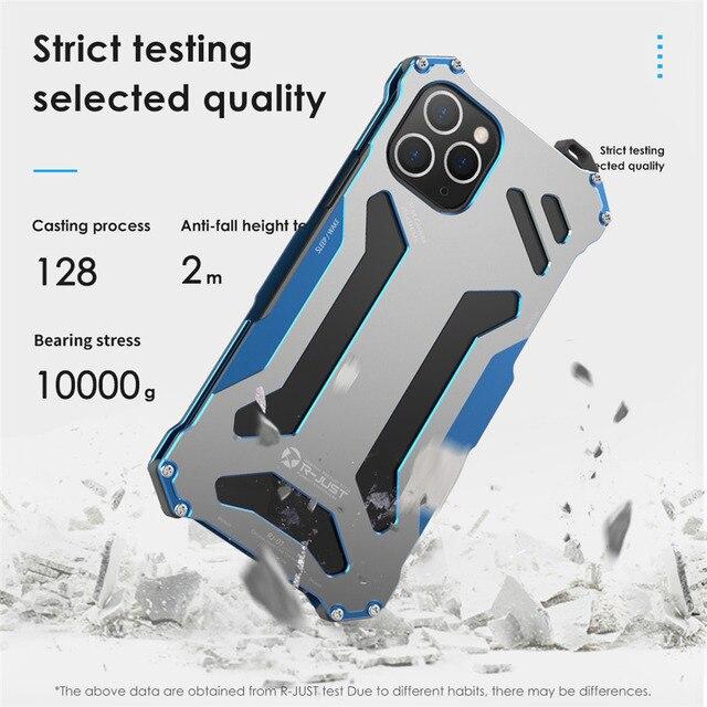 알루미늄 금속 케이스 아이폰 11 프로 최대 럭셔리 건담 shockproof 커버 케이스 아이폰 8 7 플러스 6s 5s se x xs 최대 xr 케이스
