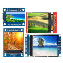 Tft display 0.96/1.3/1.44/1.77/1.8 polegada ips 7p spi hd 65k módulo lcd a cores completas st7735 drive ic 80*160 (não oled) para arduino