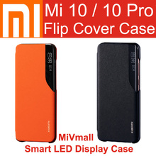 Xiaomi Mi 10 Pro Flip Case Cover Official Original Mi 10 Smart LED Display Case Wake Up Close for Mi 10 Pro Mi 10