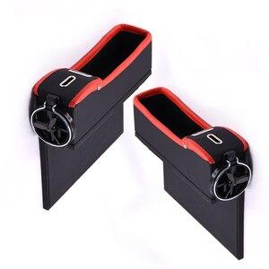 Image 5 - 車のシート隙間収納ボックスカップドリンクホルダーオーガナイザーオートギャップポケット整頓電話パッドカードコインケースアクセサリー