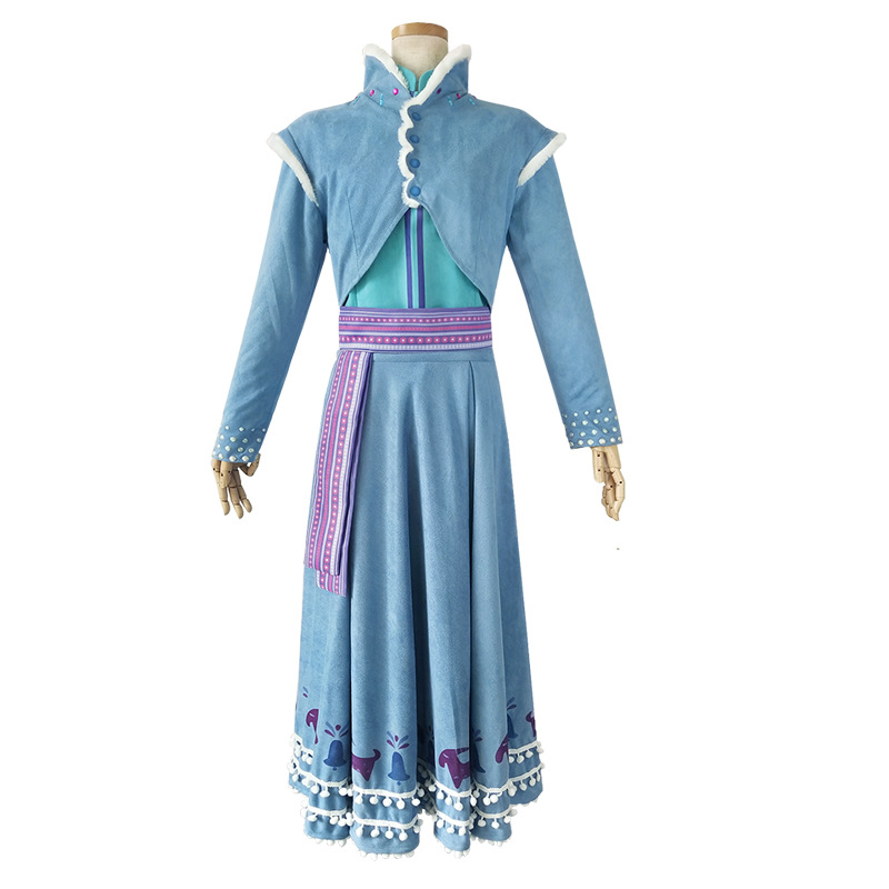 Fashion trend new Princess Anna cosplay costume Christmas adult lovely girl Cosplay party performance dress princess skirt