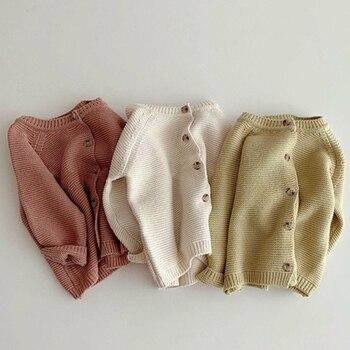 Autumn Kids Knitting Sweaters Newborn Baby Girls Boys Cardigan Baby Girl Sweater Knitting Jacket Coat Toddler Baby Girls Tops 1