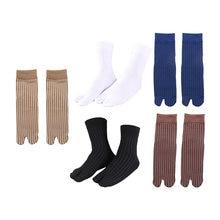 Эластичные хлопковые носки с двумя пальцами шлепанцы унисекс