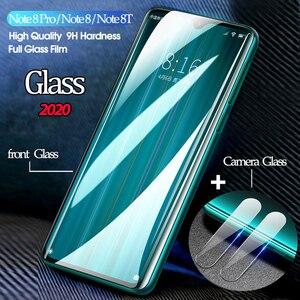 3-в-1 película,защитное стекло, бронь стекло для редми нот 8 про стекло Redmi Note 8 Pro 8 T редми 8т Экран протектор Note 8T объектив cтекло на редми нот 8т Стик...