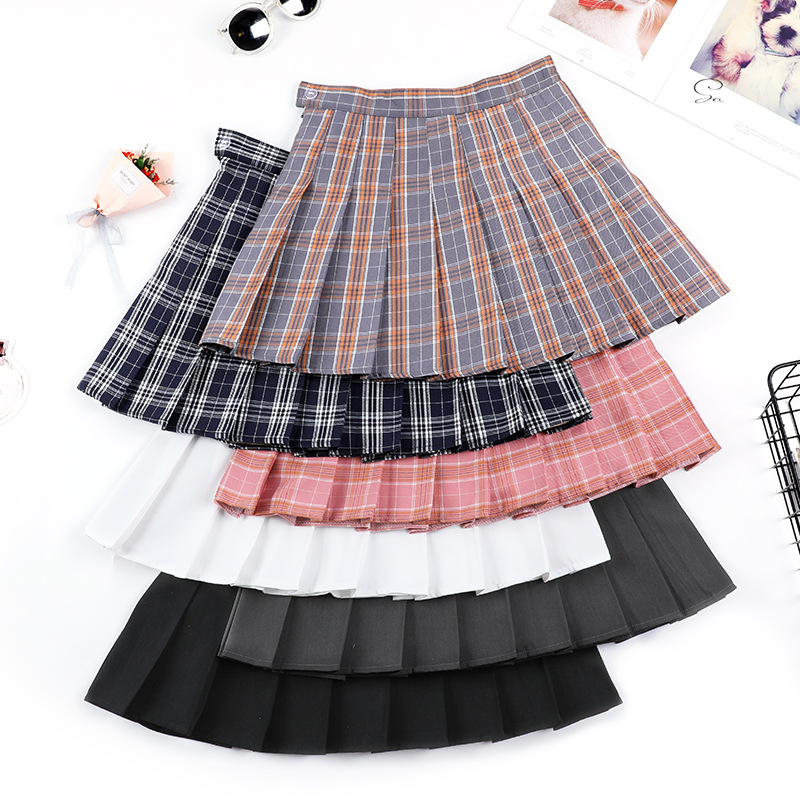 Summer High Waist Pleated Mini Skirt Pink Pleated Satin Skirt Women's Fashion Slim Waist Casual Tennis Skirts school Vacation image