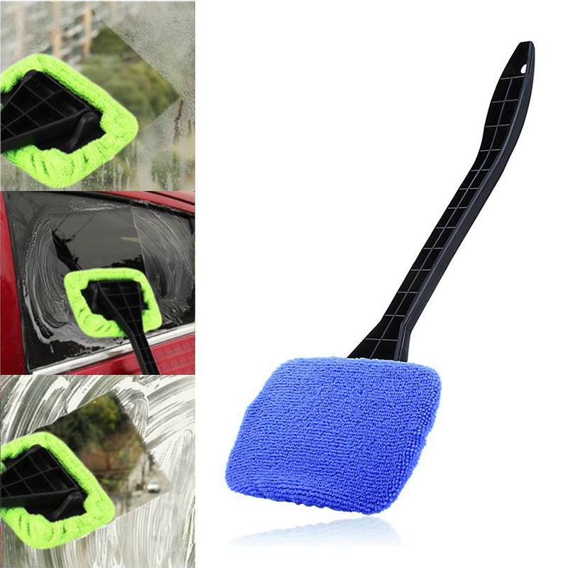Dropship! Acessórios do carro longo punho lavável carro pára-brisa mais limpo carro auto limpador de limpador de vidro janela escova ferramentas úteis