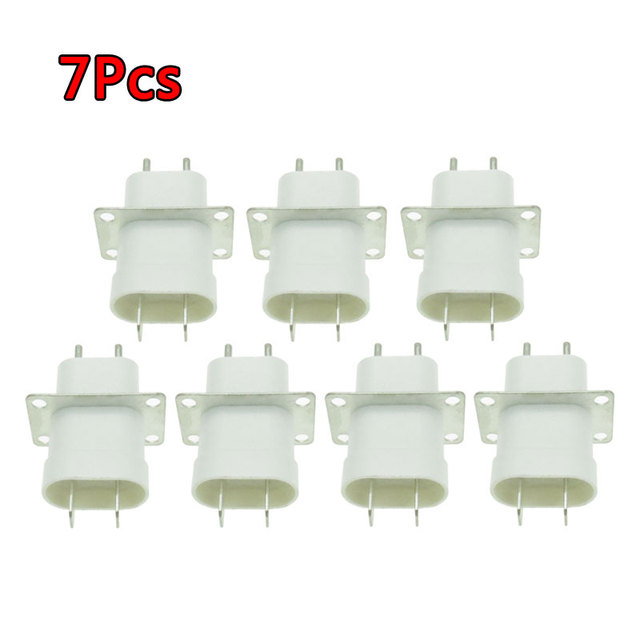 7Pcs Electronic Microwave Oven Magnetron Plug 4 Filament Pin Sockets Converter Home Microwave Oven Spare Parts