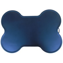 BMBY-52x38cm Cat Feeding Mat Silicone Dish Bowl Feed Food Water Placemat Dog Puppy Pet Product Dog Supplie(China)