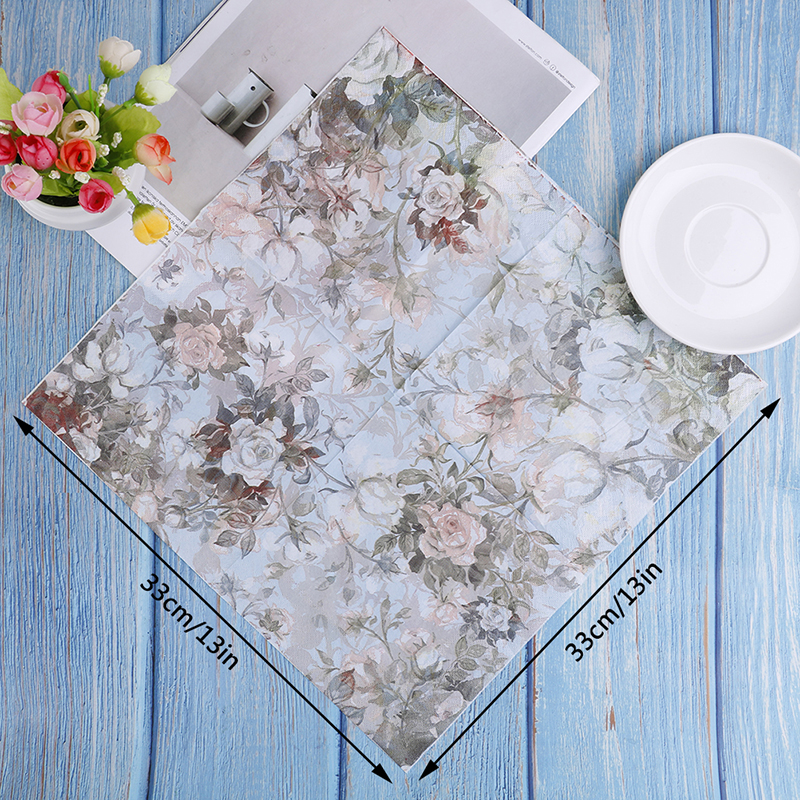 20PCS Paper Flower Napkins For Decoupage Kleenex Tableware Tissues DIY Craft Decoration