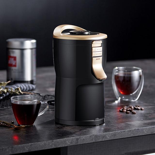 600 واط التلقائي بالكامل الأمريكية ماكينة القهوة صانع طاحونة المنزلية المحمولة الصغيرة طحن القهوة ، مسحوق الفول والشاي 3