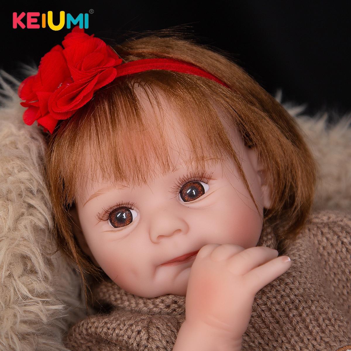 50 cm Super Nette Silikon Reborn Baby Puppen Verwurzelt Faser Haar Tuch Körper Puppe Mit Exquisite Anzug Für kinder tag Geschenke