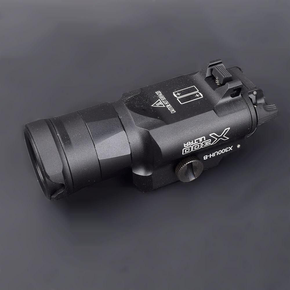 Тактическое оружие светильник X300UH-B вспышка светильник пистолет белый светодиодный охота флэш-светильник для 20 мм с креплением для 20 мм рел...
