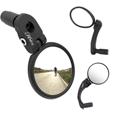 Bike Mirrors Adjustable Rotatable Handlebar Mirror Bicycle Accessories Safe Rearview Mirror Wide Angle for Racing, Road,Mountain