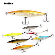 FeelFun Sea Fishing Lure Floating Pencil Lure Bait Stickbait Wobblers Topwater Long Casting Hard Lure 9cm/11cmm/13cm/15cm