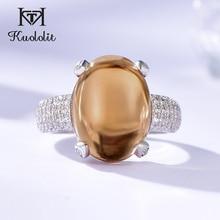 Anillos de piedras preciosas Kuololit zultanita para mujer, Plata sólida 925 cambio de Color, piedra ovalada de la diáspora, joyería fina de compromiso