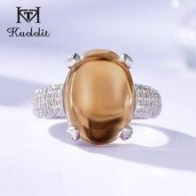 Женские кольца с зултанитом kuoolit, кольца из стерлингового серебра 925 пробы с овальным камнем, ювелирные украшения для помолвки