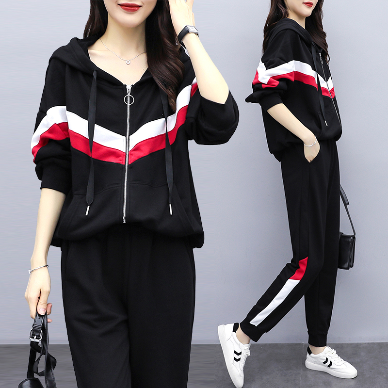 2020 Spring New Casual Tracksuit For Women Two Piece Set Hoodies Loose Sportswear 2 Pieces Running Sports Suit For Women Suits