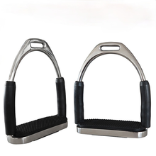 Stainless Steel Stirrup with Live Joints Can Swing Left and Right Black Rubber Non-slip Mat Safety Stainless Steel Material