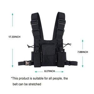 Image 5 - Nylonowa kamizelka taktyczna wojskowa zewnętrzna uprząż radiowa walkie talkie kamizelka ręczna skrzynia Rig Pack etui ratownicze bezpieczeństwo Duty torba na klatkę piersiowa