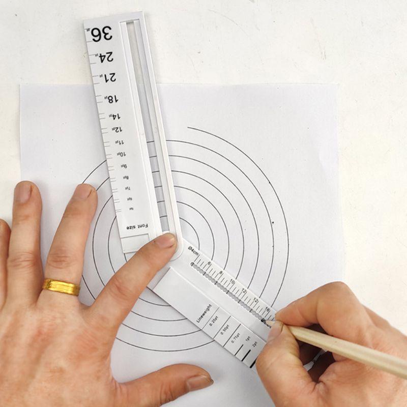 Bússola de metal multifuncional desenho círculo ferramenta