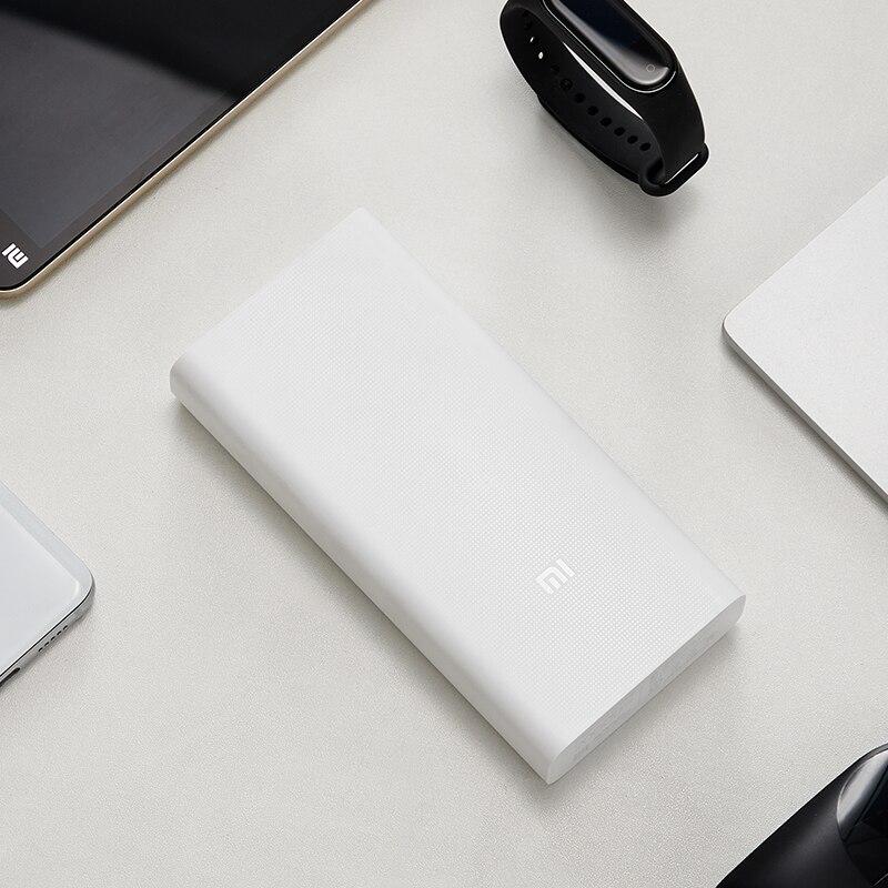 Originale batterie externe de Xiaomi 20000mAh Chargeur Portable pour iPhone Xiaomi Batterie Externe Support Double USB QC 3.0 Powerbank 20000 - 5