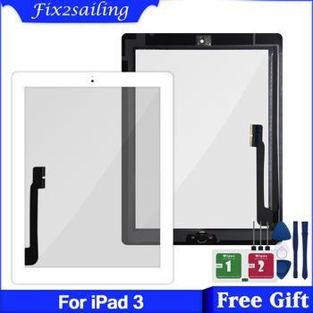 """Dla iPad 3 3rd Gen A1416 A1430 A1403 9.7 """"LCD zewnętrzny ekran dotykowy Digitizer wymiana ekranu + przycisk Home"""