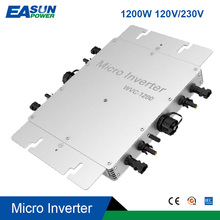 1200W su geçirmez IP65 şebeke bağlantı invertörü mikrobilgisayar MPPT saf sinüs dalgası güneş mikro dönüştürücü regülatörü 22-50VDC 110V/220VA