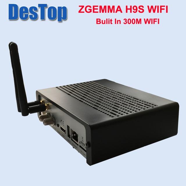 Zgemma 1pcs/lot ZGEMMA H9S bulit in 300M wifi DVB S2X Multistream 4K UHD Support ZGEMMA H9S Satellite Receiver FREE SHIPPING