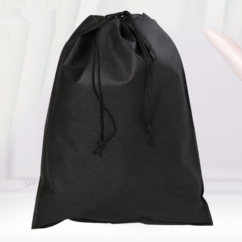 2019 Non-woven Fabrics Reusable Shopping Bag Portable Foldable Drawstring Bag Women Eco Friendly Tote Pouch Recycle Grocery Bag