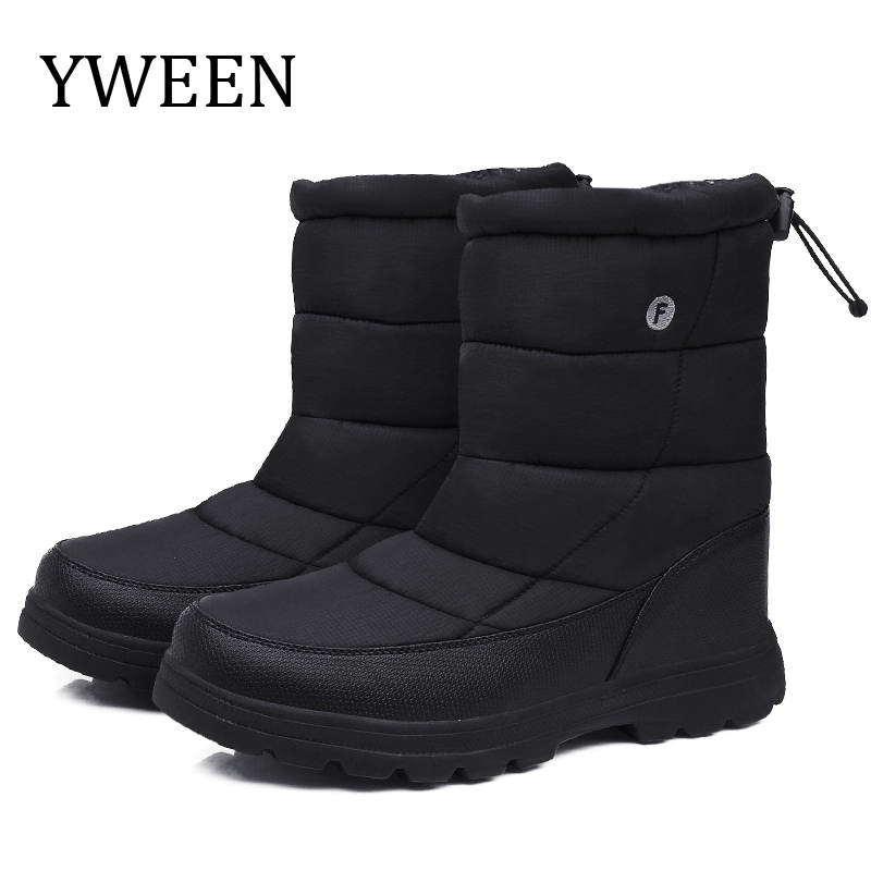 YWEEN Men's Shoes Waterproof Upper Men Winter Boots Warm Plush Antiskid 2019 New Design Style Free Ship Outdoor Boots For Men