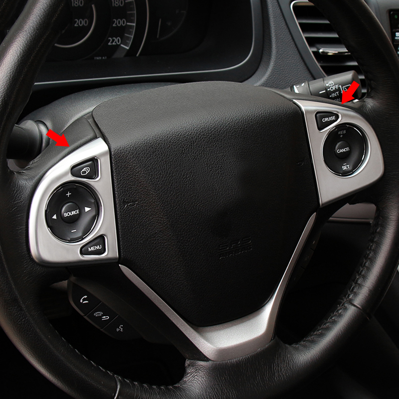 CITALL Peach wood panel dashboard decorative frame trim Fit For CRV CR-V 2017-2018