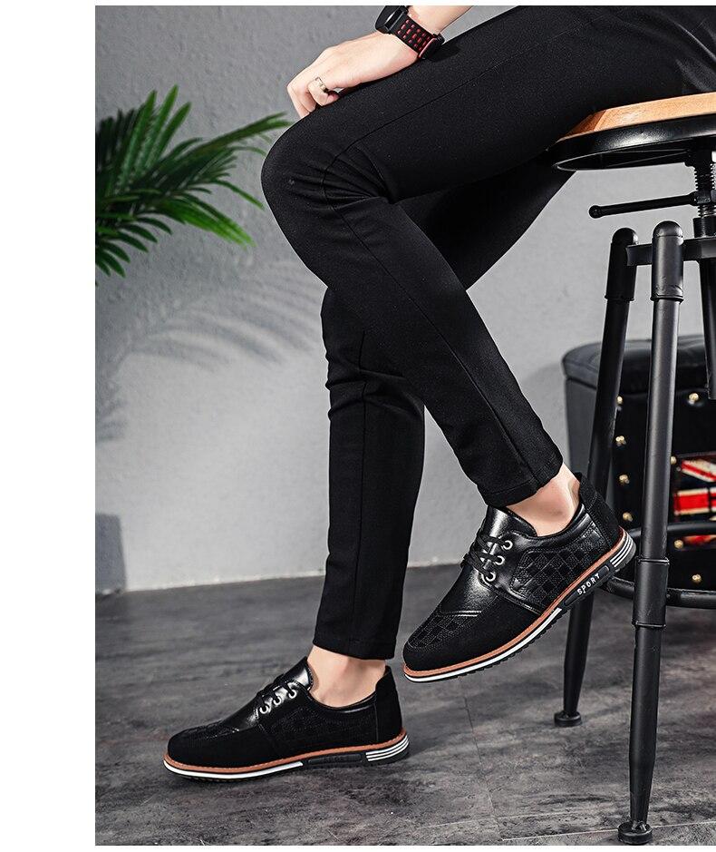 Novos sapatos de golfe de couro ao