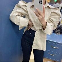 Новинка классические ретро рубашки с буфами на рукавах женские