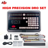 Envío Gratis HXX completo 2 DRO kit 2 ejes pantalla digital GCS900-2DB + y 2 uds balanzas liner 5um para la rejilla de torno
