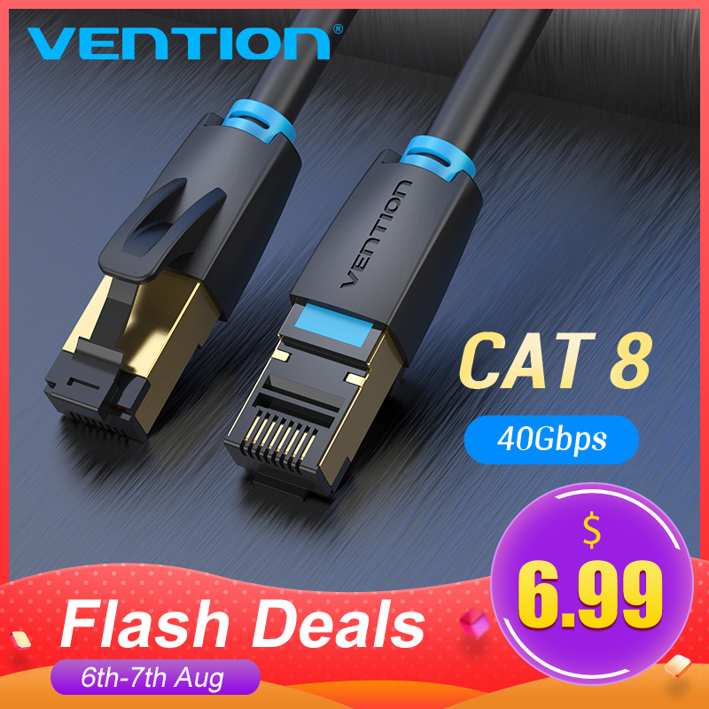 Vention Cat8 Ethernet Cable SSTP 40Gbps Super Speed Cat 8 RJ45 Network Lan Patch Cord for Router Modem PC RJ 45 Ethernet Cable(China)