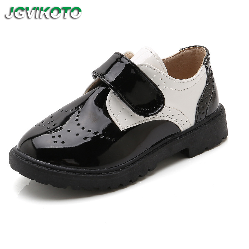 JGVIKOTO Boys Shoes Kids Leather Shoes Children Casual Sneakers Oxforts Flats Breathable Soft Comfortable For Wedding Party Show