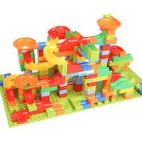 Carrera de mármol bola laberinto pista bloques de construcción DIY embudo plástico tobogán bloques de gran tamaño Compatible con todas las marcas
