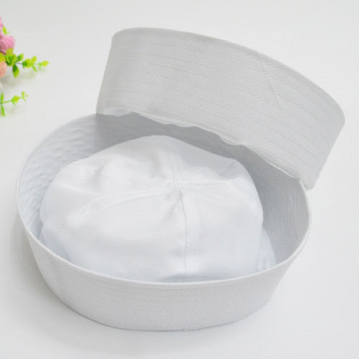 White Sailor Navy Hat Cap With Anchor For Fancy Dress Sailor Marine Military Cap Hat For Adults And Children