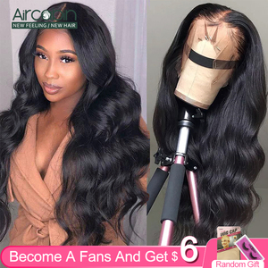 Indian Human Hair Body Wave Lace Front Wigs For Black Women Natural Color Factory Price Bangs Fake Scalp Pelucas(China)