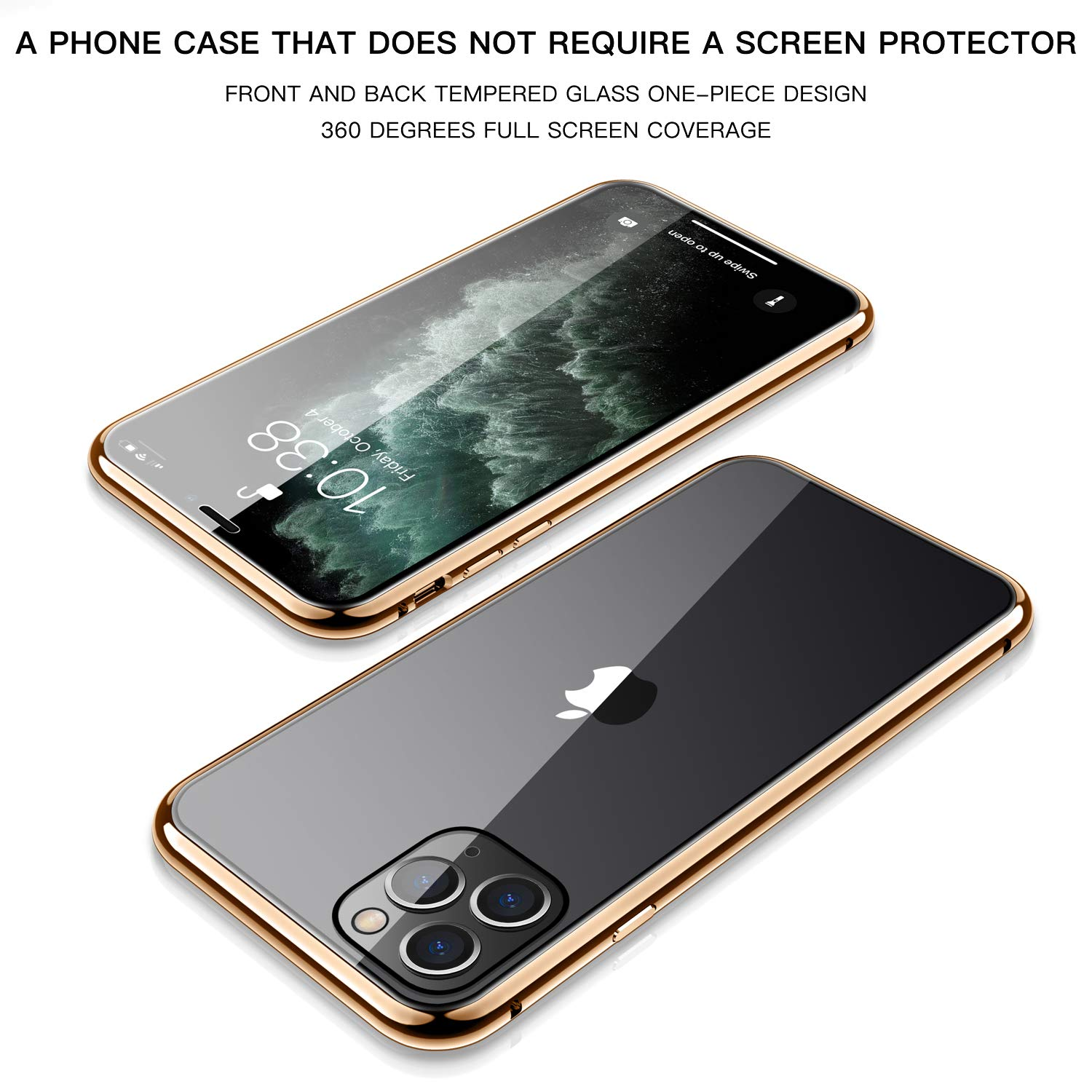 Magnetic Protective Case For IPhone 12 11 Pro XS MAX XR X 8 7 Plus With Double-Sided Tempered Glass Metal Frame Phone Cover 6