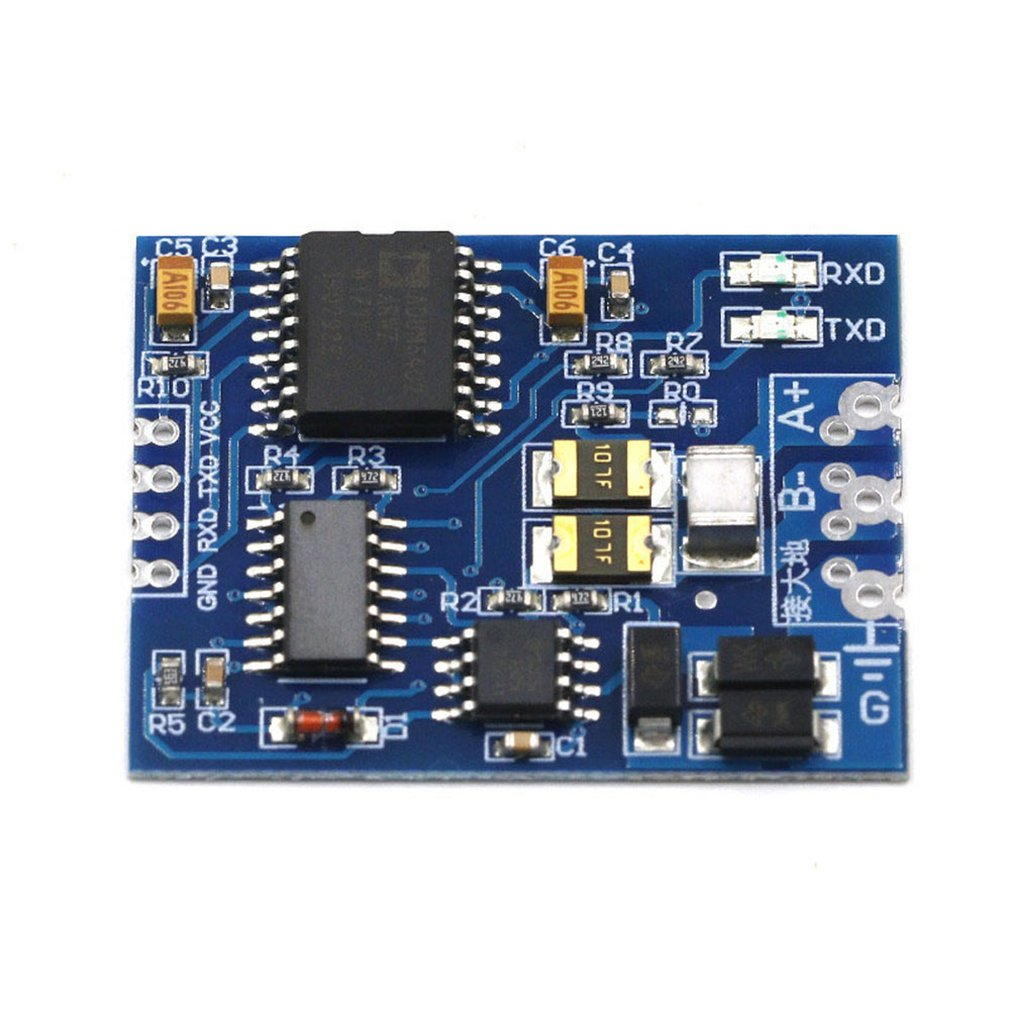 S485 To TTL Module TTL To RS485 Signal Converter 3V 5.5V Isolated Single Chip Serial Port UART Industrial Grade Module