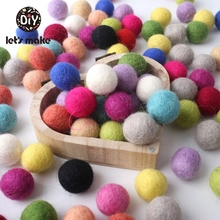 20PCS 2cm 100% Wool Felt Ball Colorful Wool Balls DIY Craft Mixed Colors For Kids Baby Room Decor Nursery Decoration For Wall mini order 2pc large 40x50mm christmas decor wool felt ball different colors felt heart balls pom pom handcraft decoration diy