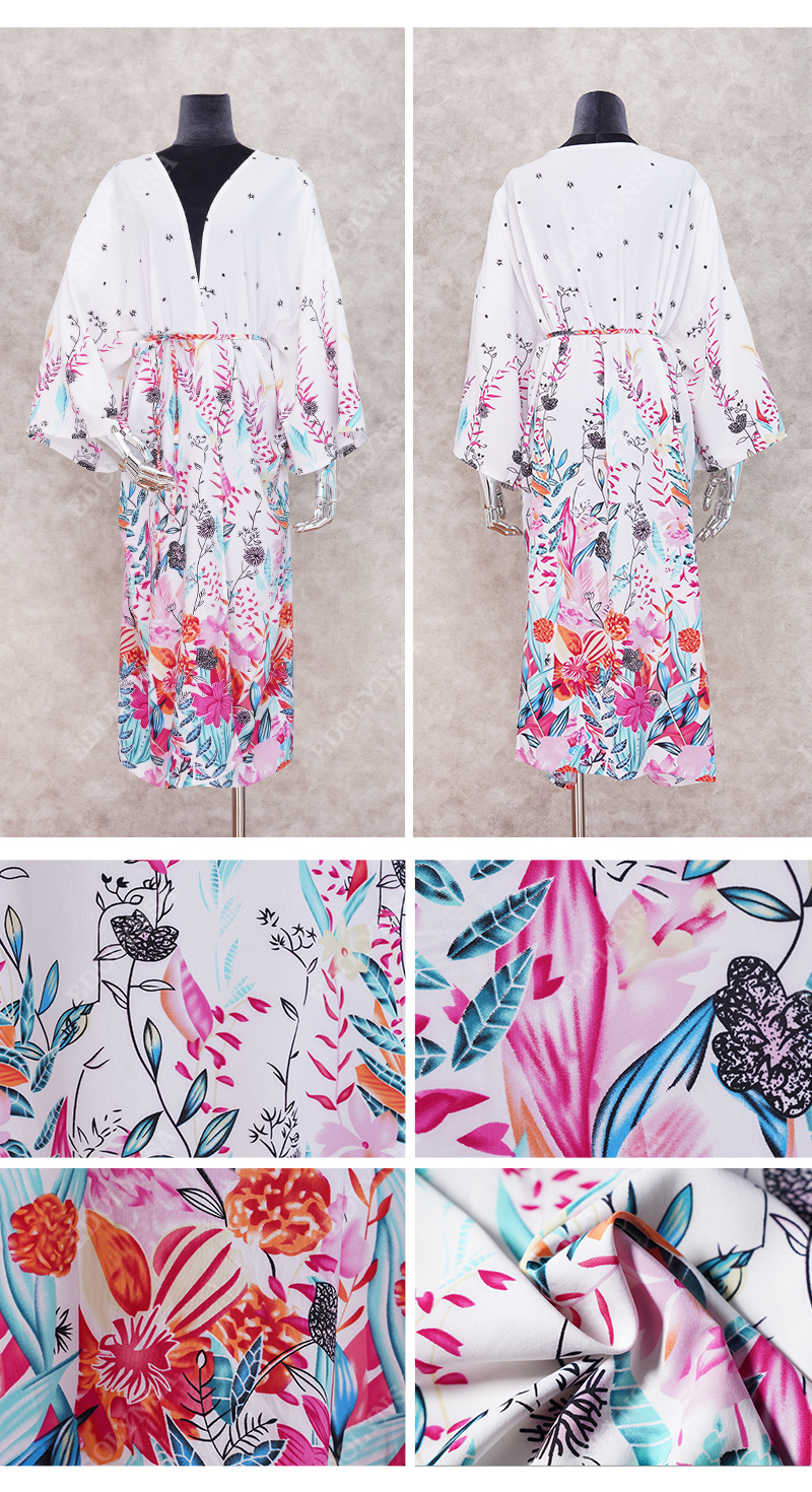 H09420200a49b47bda89c3b159911aa43n - Bohemian Printed Half Sleeve Summer Beach Wear Long Kimono Cardigan Cotton Tunic Women Tops Blouse Shirt Sarong plage N796