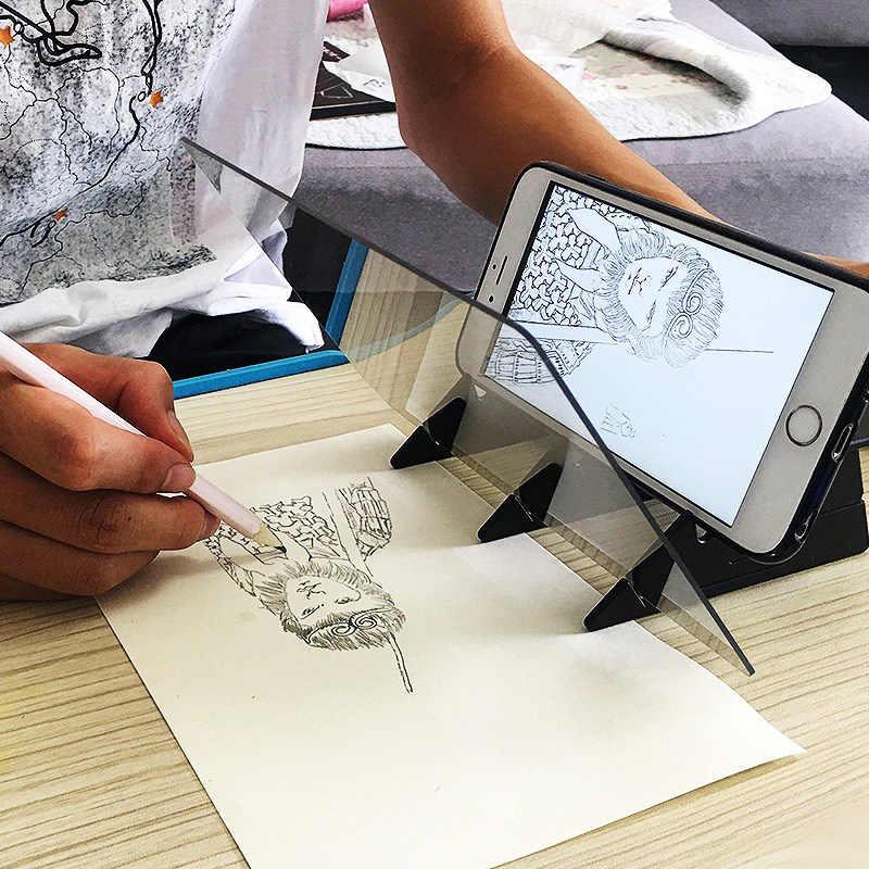 ผู้ถือโทรศัพท์มือถือ Sketch Wizard Tracing Drawing BOARD Optical วาดโปรเจคเตอร์ภาพวาด Reflection Tracing Line ตาราง MVI-ing